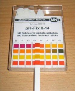 cartina tornasole per misura del ph