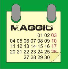 IL Calendario di maggio