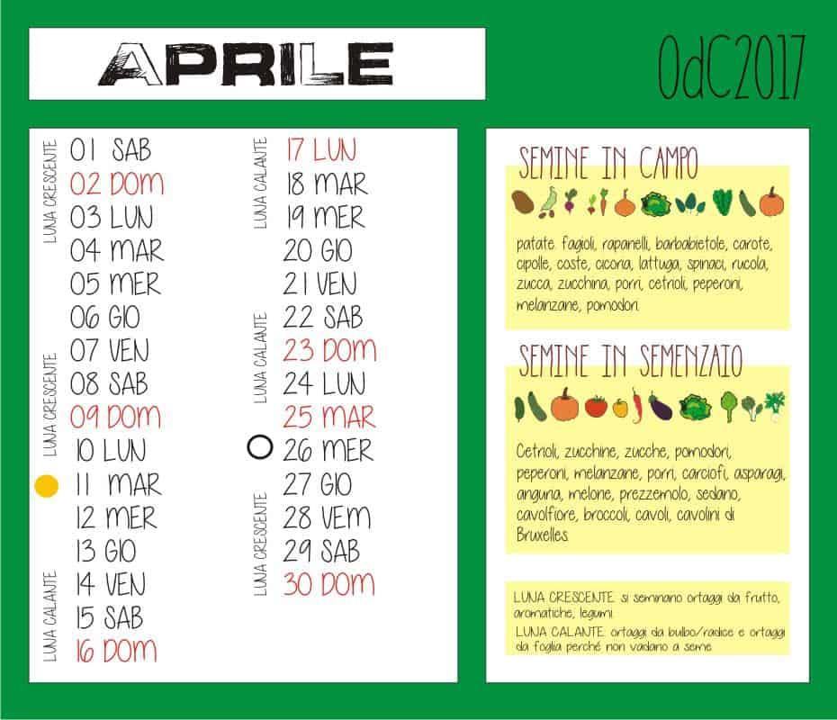 Calendario Semina Orto 2020.Calendario Biodinamico