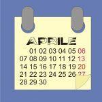Aprile 2021: calendario con fasi lunari, semine e lavori