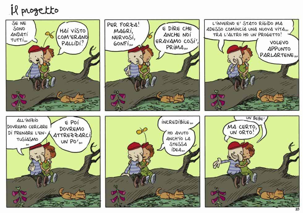 una gag del fumetto ritorno alla terra