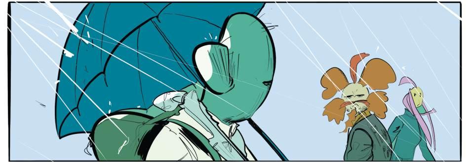 il cactus carl, protagonista del fumetto.