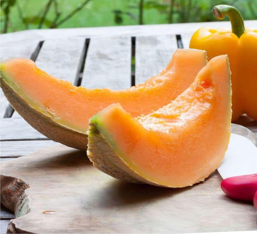 il melone maturo a fette