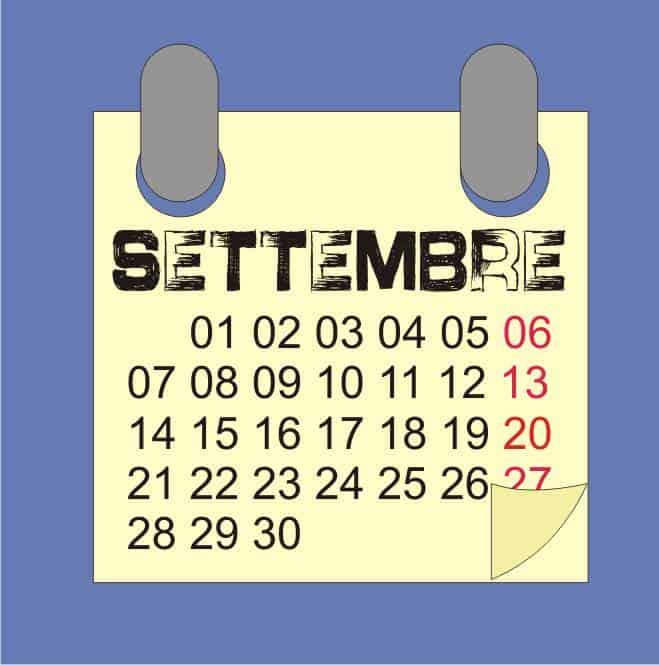 Settembre: calendario lunare 2020