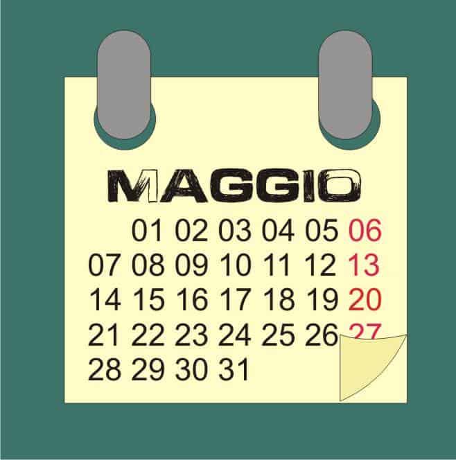 Calendario dei trapianti di maggio