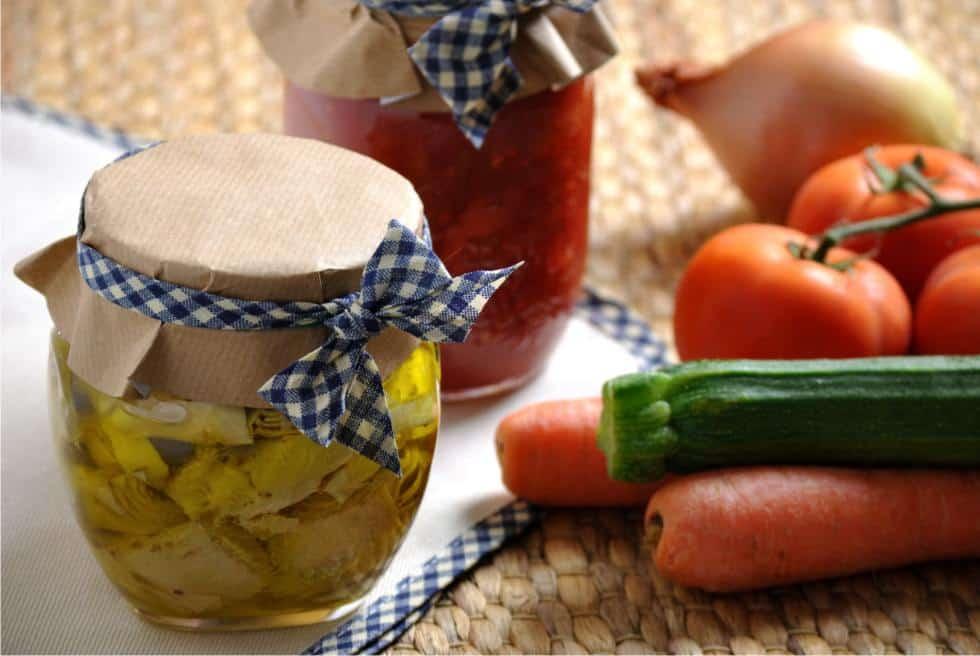 Come fare conserve di verdura sicure