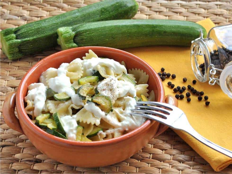 pasta zucchine e stracciatella
