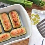 Zucchine ripiene di prosciutto