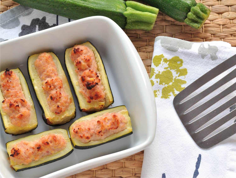 zucchine ripiene con prosciutto