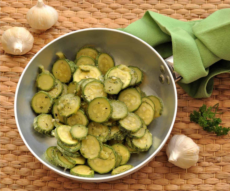 le zucchine a rondelle trifolate