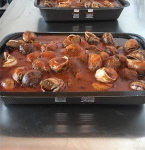 lumache cucinate al sugo