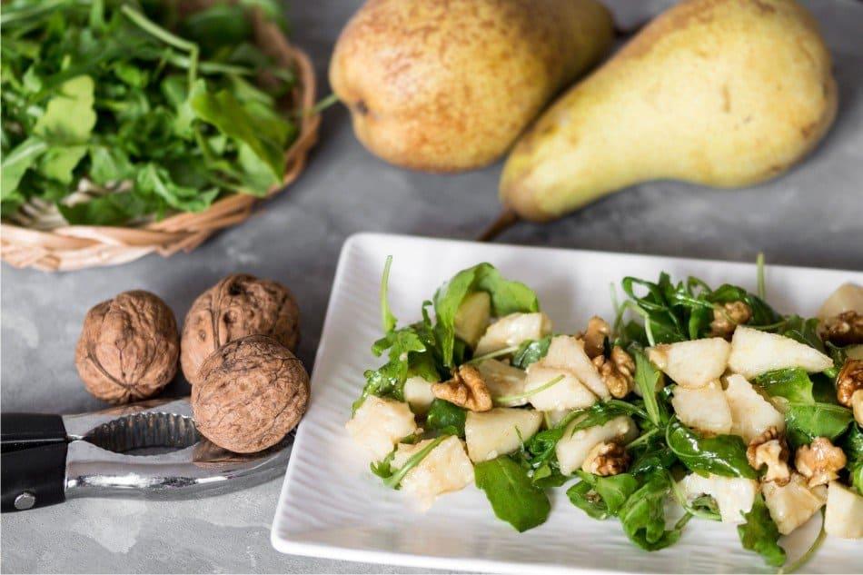 insalata rucola pere e grana