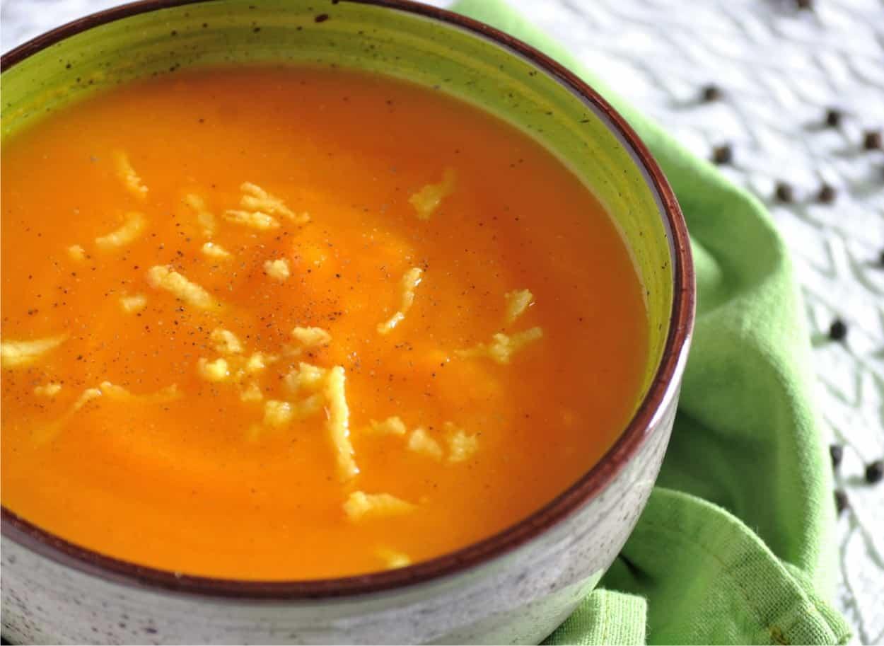 vellutata di carote allo zenzero