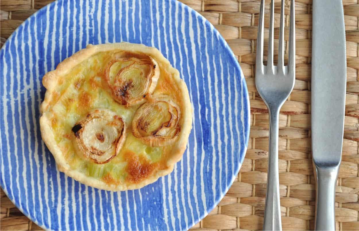 ricetta miniquiche di porri con pasta brisè