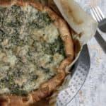 Torta salata con spinaci e fontina