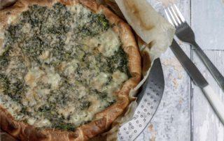 torta spinaci e fontina