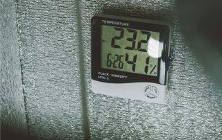 growbox con termoigrometro