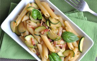 pancetta e zucchine per la pasta