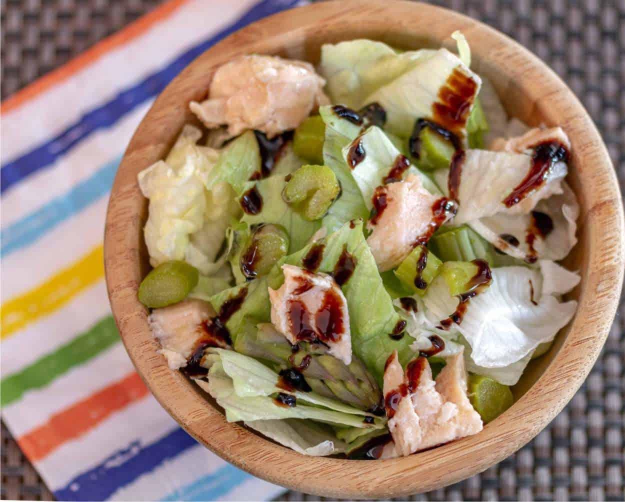 Insalata asparagi e salmone