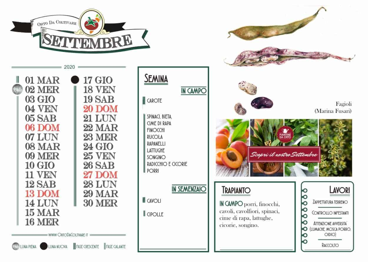 settembre 2020 calendario agricolo
